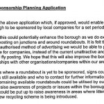 WHBC Statement about roundabout advertising